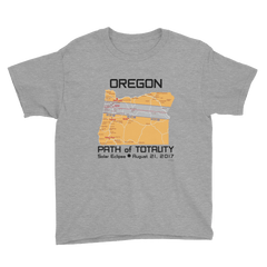 Boys Solar Eclipse Short Sleeve T-Shirt - Oregon - Path of Totality August 21, 2017