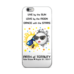 Solar Eclipse iPhone 5/5s/Se, 6/6s, 6/6s Plus Case - Bonnie & Clyde - Path of Totality August 21, 2017