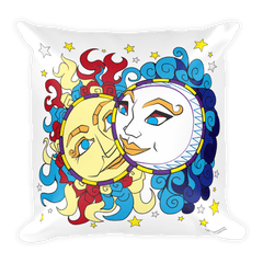 Solar Eclipse Throw Pillow - Han & Leia - Path of Totality - August 21, 2017