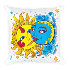 Solar Eclipse Throw Pillow - Diego & Frida - Path of Totality August 21, 2017