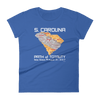 Women's Solar Eclipse Short Sleeve T-Shirt - South Carolina - Path of Totality August 21, 2017