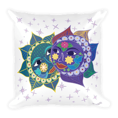 Solar Eclipse Throw Pillow - Anna & Vronsky - Path of Totality August 21, 2017
