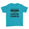 "Boys' Short Sleeve T-Shirt: ""Oregon"" PATH of TOTALITY Total Solar Eclipse 08-21-2017"