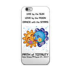 Solar Eclipse iPhone 5/5s/Se, 6/6s, 6/6s Plus Case - Cinderella & Charming - Path of Totality August 21, 2017