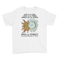 Boys Solar Eclipse Short Sleeve T-Shirt - Drogo & Daenerys - Live Love Dance Path of Totality August 21, 2017