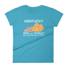 Women's Solar Eclipse Short Sleeve T-Shirt - Kentucky - Path of Totality August 21, 2017