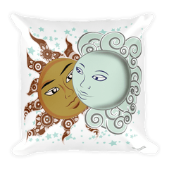 Solar Eclipse Throw Pillow - Drogo & Daenerys - Path of Totality August 21, 2017