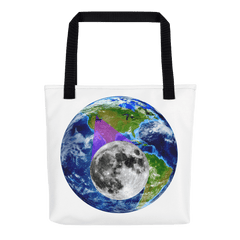 Tote Bag: - Idaho - Earth/Moon - PATH of TOTALITY Solar Eclipse August 21, 2017