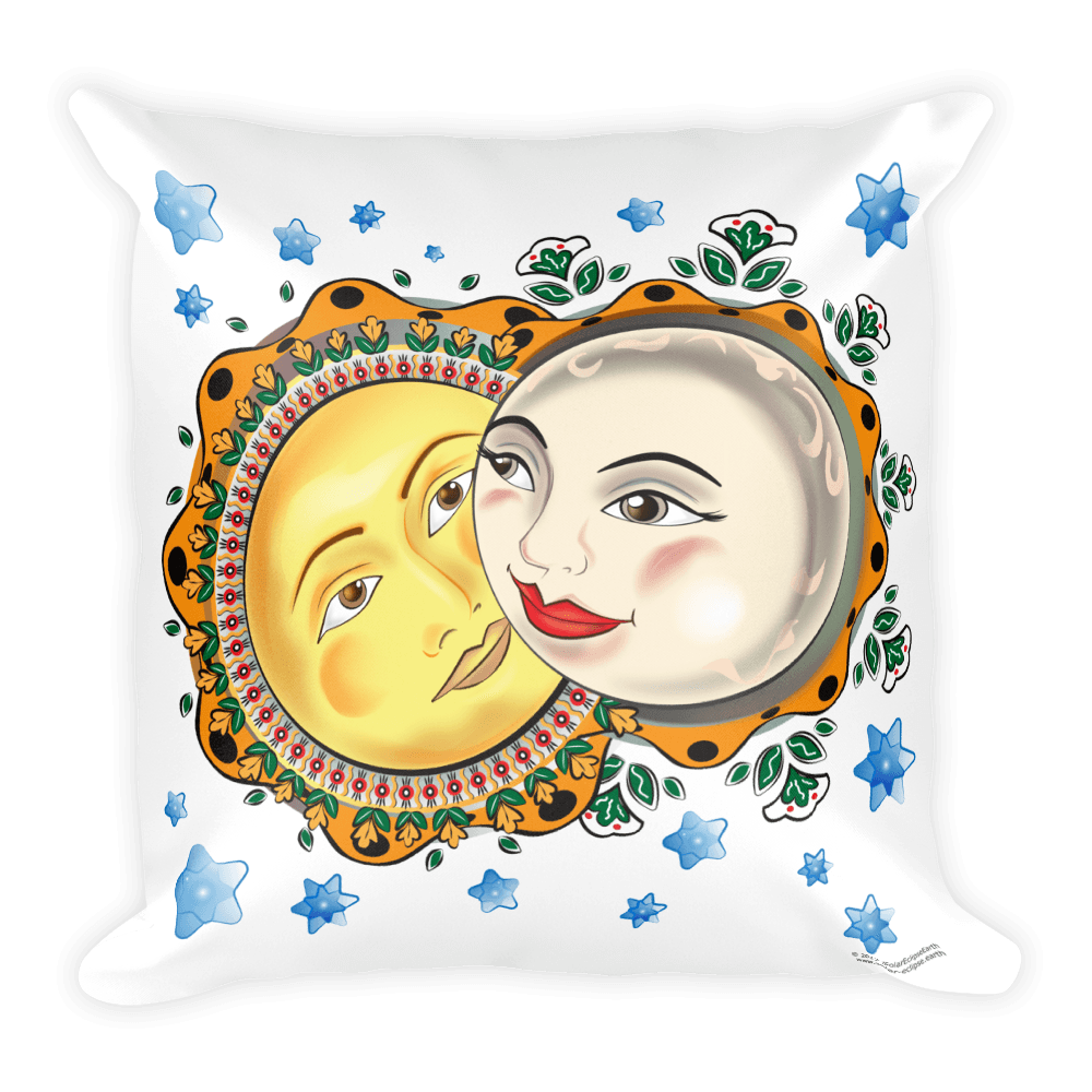 Solar Eclipse Throw Pillow - Romeo & Juliet - Path of Totality August 21, 2017