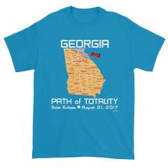 Men's Solar Eclipse Short Sleeve T-Shirt - Georgia - Path of Totality August 21, 2017