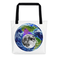 Tote Bag: - Wyoming - Earth/Moon - PATH of TOTALITY Solar Eclipse August 21, 2017