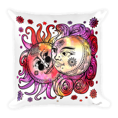 Solar Eclipse Throw Pillow - John Lennon & Yoko Ono - Path of Totality August 21, 2017