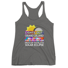 Women's - Grand Island NE - Solar Eclipse Tank Top: