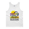 "Men's - Albany OR - Solar Eclipse Tank Top: ""Lights Out!"" PATH of TOTALITY 08-21-2017 w Actual Times"