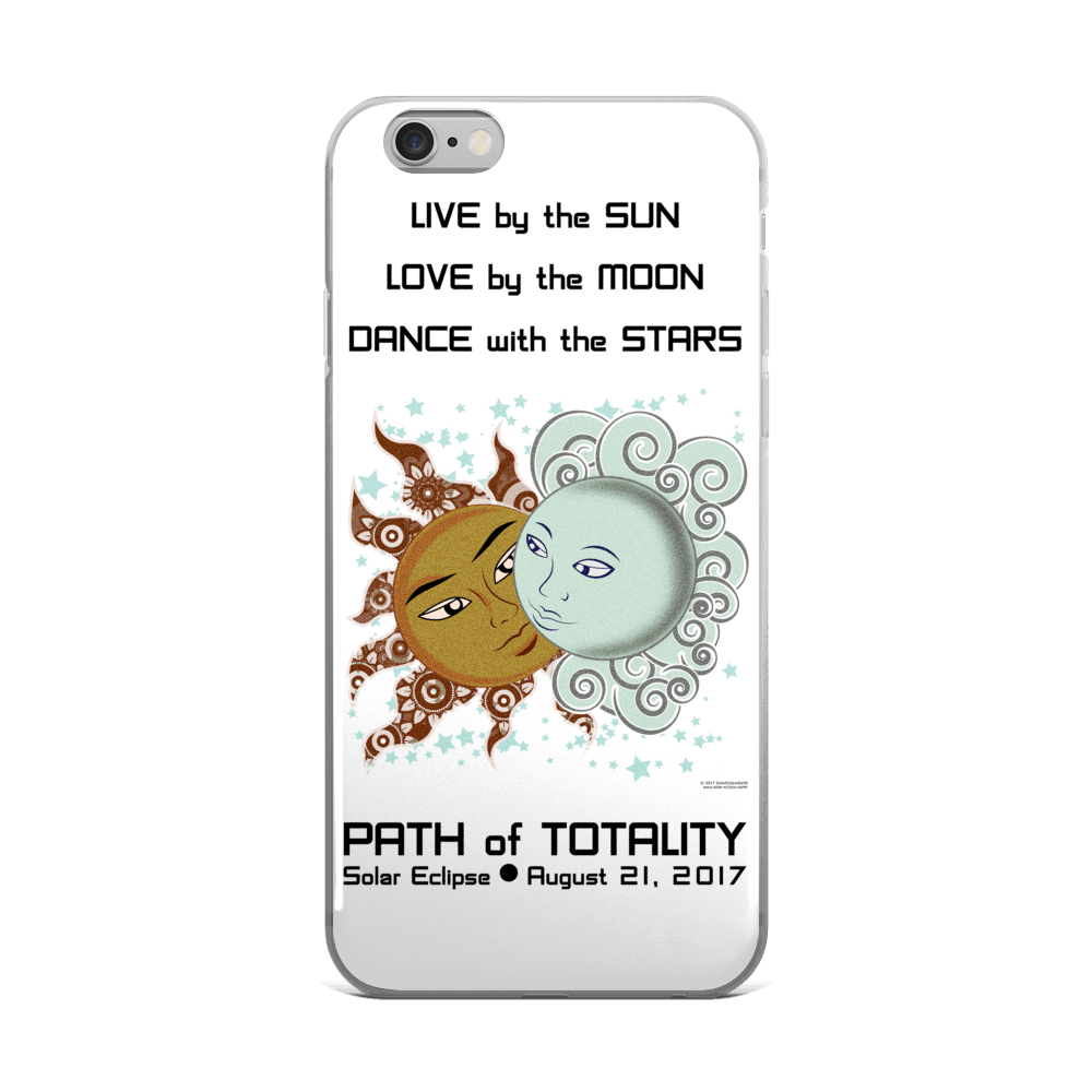 Solar Eclipse iPhone 5/5s/Se, 6/6s, 6/6s Plus Case - Drogo & Daenerys - Path of Totality August 21, 2017