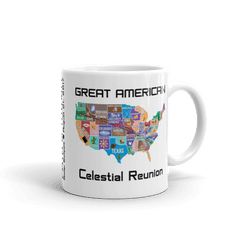 "Solar Eclipse Mug: ""USA07"" PATH of TOTALITY Great American Celestial Reunion August 21, 2017 (Made in USA)"