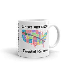 "Solar Eclipse Mug: ""USA01"" PATH of TOTALITY Great American Celestial Reunion August 21, 2017 (Made in USA)"