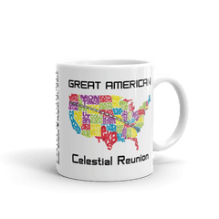 "Solar Eclipse Mug: ""USA05"" PATH of TOTALITY Great American Celestial Reunion August 21, 2017 (Made in USA)"