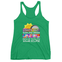 Women's - Bowling Green KY - Solar Eclipse Tank Top: