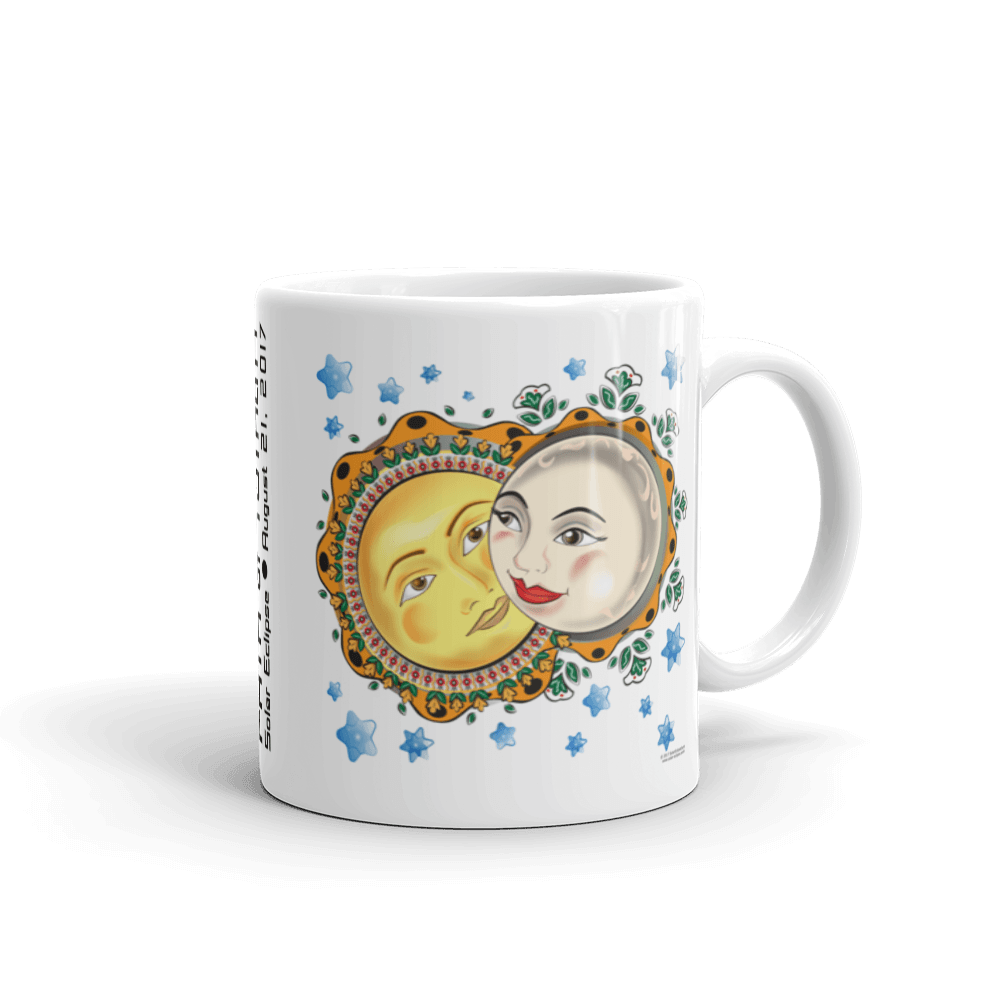 "Solar Eclipse Mug: ""Romeo & Juliet"" PATH of TOTALITY August 21, 2017 (Made in USA)"