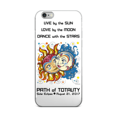 Solar Eclipse iPhone 5/5s/Se, 6/6s, 6/6s Plus Case - Noah & Allie - Path of Totality August 21, 2017