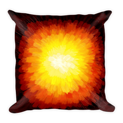 Solar Eclipse Throw Pillow - SOLAR FLUX - Path of Totality August 21, 2017