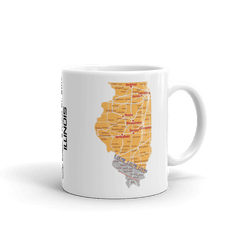 "Solar Eclipse Mug: ""Illinois"" PATH of TOTALITY August 21, 2017 (Made in USA)"