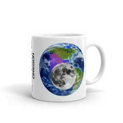 "Solar Eclipse Mug: ""Oregon"" -Earth/Moon- PATH of TOTALITY August 21, 2017 (Made in USA)"