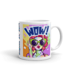 "Solar Eclipse Mug: ""CARROT POP"" - Pop Art - PATH of TOTALITY August 21, 2017 (Made in USA)"