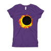 Girls Solar Eclipse Princess T Shirt - Sun Moon Dance - Path of Totality August 21, 2017
