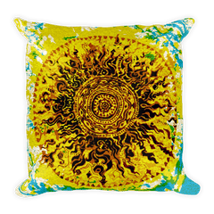 Solar Eclipse Throw Pillow - GLORIOUS DANCE - Path of Totality August 21, 2017
