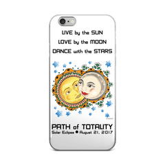 Solar Eclipse iPhone 5/5s/Se, 6/6s, 6/6s Plus Case - Romeo & Juliet - Path of Totality August 21, 2017