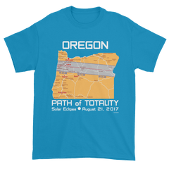 Men's Solar Eclipse Short Sleeve T-Shirt - Oregon - Path of Totality August 21, 2017