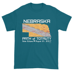 Men's Solar Eclipse Short Sleeve T-Shirt - Nebraska - Path of Totality August 21, 2017