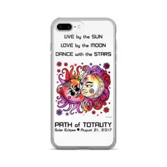 Solar Eclipse iPhone 7/7 Plus Case - John & Yoko - Path of Totality August 2017
