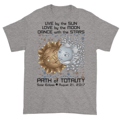 Men's Solar Eclipse Short Sleeve T-Shirt - Deckard & Rachel - Live Love Dance Path of Totality August 21, 2017