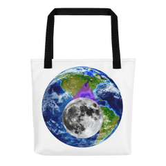 Tote Bag: - Illinois - Earth/Moon - PATH of TOTALITY Solar Eclipse August 21, 2017