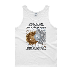 "Men's Tank Top: ""Deckard & Rachel"" LIVE LOVE DANCE PATH of TOTALITY Solar Eclipse August 21, 2017"