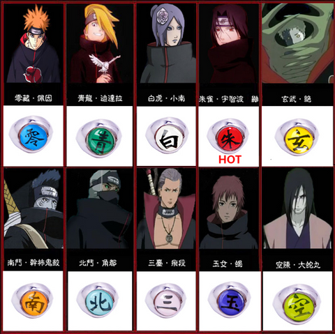 akatsuki ring collection meaning