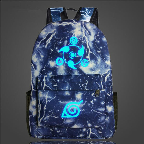 Electric Glowing in the Dark Naruto Backpack