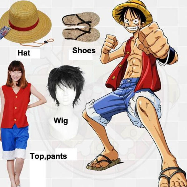 Monkey D.Luffy Full Cosplay Costume