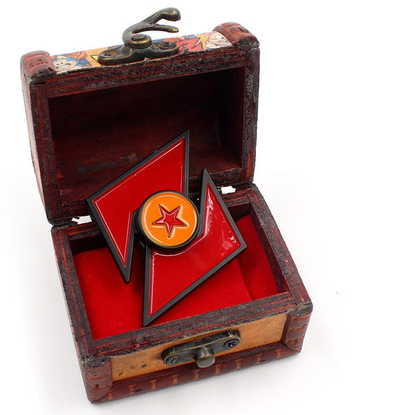 Collectible Dragon Ball Z Spinners With Wooden Box