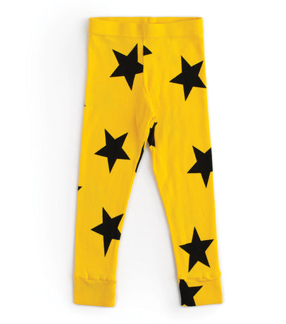 Star Leggings - Yellow