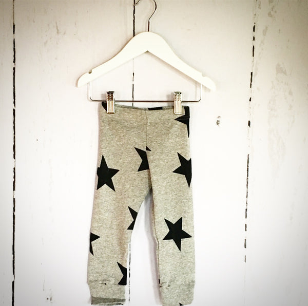 Star Leggings - Grey - One Size Left (4-5y)