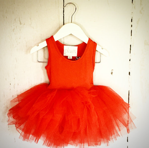 Short Sleeve Red Tutu