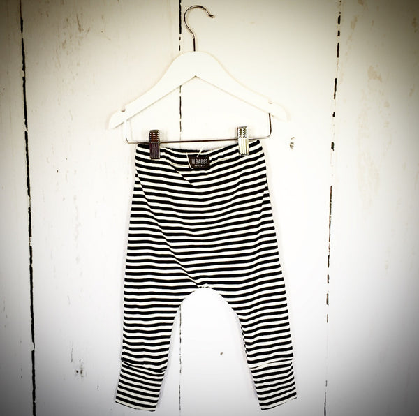 Bamboo Two Tone Stripe Harem Pant