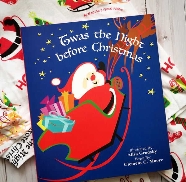 Twas the Night Before Christmas Pajama & Book Set