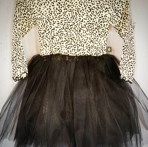 petite hailey leopard tutu dress