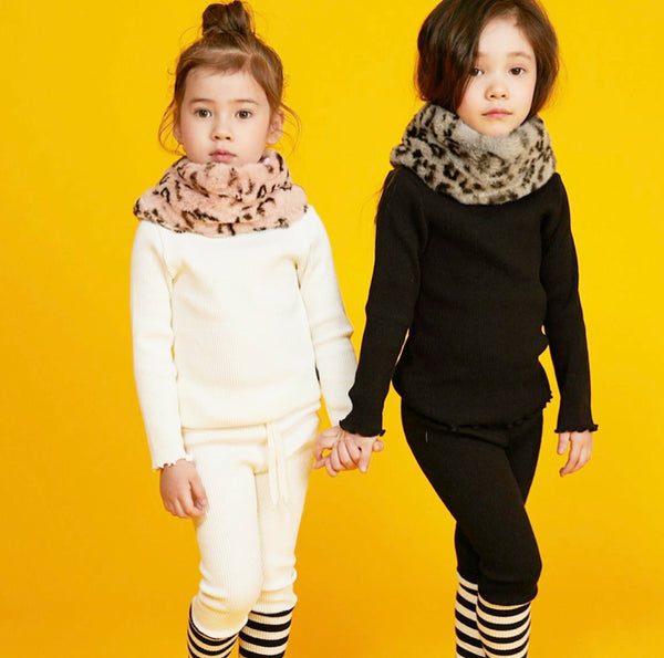 Striped Combo Leggings - Ivory