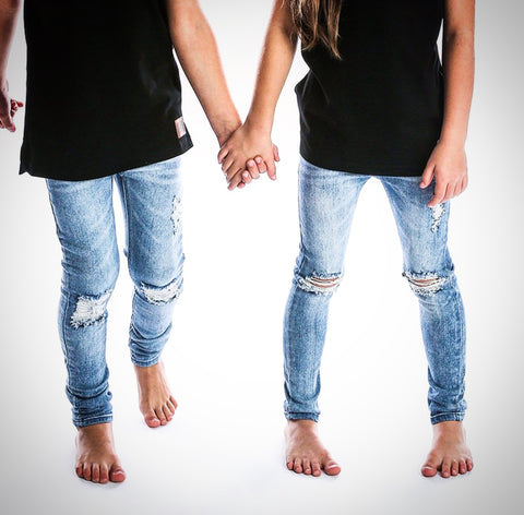 Distressed Denim Jegs